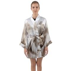 Vintage Rose Shabby Chic Background Long Sleeve Kimono Robe by Celenk
