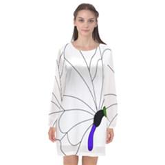Butterfly Silhouette 5 Long Sleeve Chiffon Shift Dress  by PKHarrisPlace