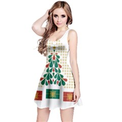 Christmas Tree Present House Star Reversible Sleeveless Dress by Celenk