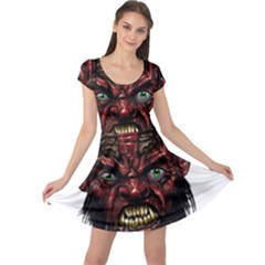 Krampus Devil Face Cap Sleeve Dress