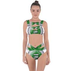 Fresh Taste Fizzy Lime Bottle Cap Bandaged Up Bikini Set  by Celenk