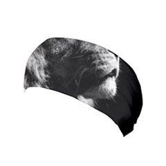 Male Lion Face Yoga Headband by Celenk