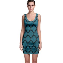 Tile1 Black Marble & Teal Leather Bodycon Dress by trendistuff