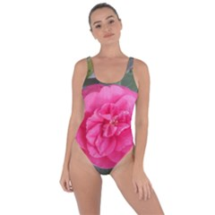 Pink Flower Japanese Tea Rose Floral Design Bring Sexy Back Swimsuit by yoursparklingshop
