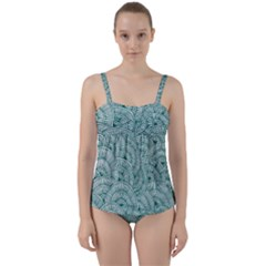 Design Art Wesley Fontes Twist Front Tankini Set by wesleystores