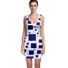 Blue Squares Textures Plaid Bodycon Dress by Alisyart
