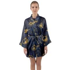 Christmas Angelsstar Yellow Blue Cool Long Sleeve Kimono Robe