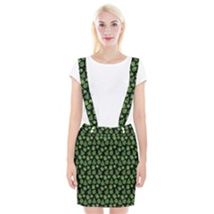 Christmas Pattern Gif Star Tree Happy Green Braces Suspender Skirt