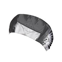 Beautiful Bnw Fractal Feathers For Major Motoko Yoga Headband by jayaprime