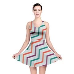 Line Color Rainbow Reversible Skater Dress