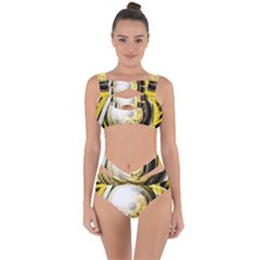 Incredible Eye Of A Yellow Construction Robot Bandaged Up Bikini Set  by jayaprime