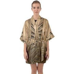 Art Deco Gold Door Quarter Sleeve Kimono Robe by 8fugoso