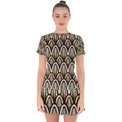 Art Deco Drop Hem Mini Chiffon Dress by 8fugoso