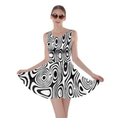 Psychedelic Zebra Black Circle Skater Dress by Alisyart