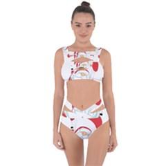 Skydiving Christmas Santa Claus Bandaged Up Bikini Set  by Alisyart