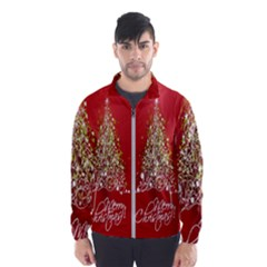 Tree Merry Christmas Red Star Wind Breaker (men) by Alisyart