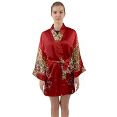 Tree Merry Christmas Red Star Long Sleeve Kimono Robe by Alisyart