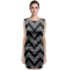 Chevron9 Black Marble & Gray Denim Classic Sleeveless Midi Dress by trendistuff