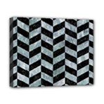 CHEVRON1 BLACK MARBLE & ICE CRYSTALS Canvas 10  x 8