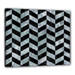CHEVRON1 BLACK MARBLE & ICE CRYSTALS Canvas 24  x 20
