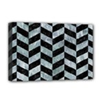 CHEVRON1 BLACK MARBLE & ICE CRYSTALS Deluxe Canvas 18  x 12