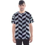 CHEVRON1 BLACK MARBLE & ICE CRYSTALS Men s Sports Mesh Tee