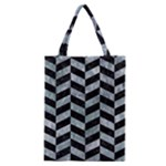 CHEVRON1 BLACK MARBLE & ICE CRYSTALS Classic Tote Bag
