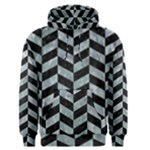 CHEVRON1 BLACK MARBLE & ICE CRYSTALS Men s Pullover Hoodie