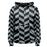 CHEVRON1 BLACK MARBLE & ICE CRYSTALS Women s Pullover Hoodie
