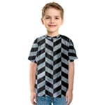 CHEVRON1 BLACK MARBLE & ICE CRYSTALS Kids  Sport Mesh Tee