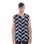 CHEVRON1 BLACK MARBLE & ICE CRYSTALS Men s Basketball Tank Top