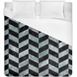 CHEVRON1 BLACK MARBLE & ICE CRYSTALS Duvet Cover (King Size)