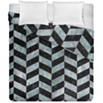 CHEVRON1 BLACK MARBLE & ICE CRYSTALS Duvet Cover Double Side (California King Size)