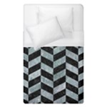 CHEVRON1 BLACK MARBLE & ICE CRYSTALS Duvet Cover (Single Size)