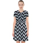 CHEVRON1 BLACK MARBLE & ICE CRYSTALS Adorable in Chiffon Dress
