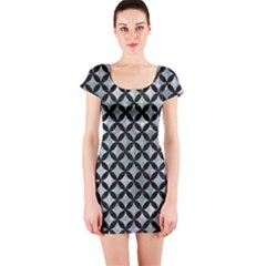 Circles3 Black Marble & Ice Crystals Short Sleeve Bodycon Dress by trendistuff