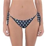 CIRCLES3 BLACK MARBLE & ICE CRYSTALS Reversible Bikini Bottom