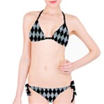 DIAMOND1 BLACK MARBLE & ICE CRYSTALS Bikini Set