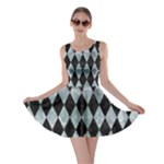 DIAMOND1 BLACK MARBLE & ICE CRYSTALS Skater Dress