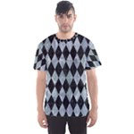 DIAMOND1 BLACK MARBLE & ICE CRYSTALS Men s Sports Mesh Tee