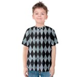DIAMOND1 BLACK MARBLE & ICE CRYSTALS Kids  Cotton Tee