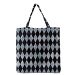 DIAMOND1 BLACK MARBLE & ICE CRYSTALS Grocery Tote Bag