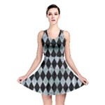 DIAMOND1 BLACK MARBLE & ICE CRYSTALS Reversible Skater Dress