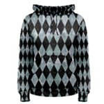DIAMOND1 BLACK MARBLE & ICE CRYSTALS Women s Pullover Hoodie