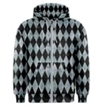 DIAMOND1 BLACK MARBLE & ICE CRYSTALS Men s Zipper Hoodie