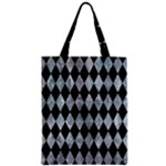 DIAMOND1 BLACK MARBLE & ICE CRYSTALS Zipper Classic Tote Bag