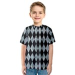 DIAMOND1 BLACK MARBLE & ICE CRYSTALS Kids  Sport Mesh Tee