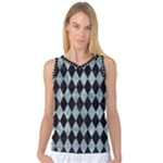 DIAMOND1 BLACK MARBLE & ICE CRYSTALS Women s Basketball Tank Top