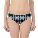 DIAMOND1 BLACK MARBLE & ICE CRYSTALS Hipster Bikini Bottoms