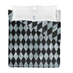 DIAMOND1 BLACK MARBLE & ICE CRYSTALS Duvet Cover Double Side (Full/ Double Size)